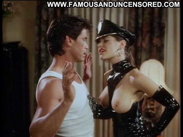 Athena Massey Undercover Pvc Breasts Thong Fantasy Celebrity Ass