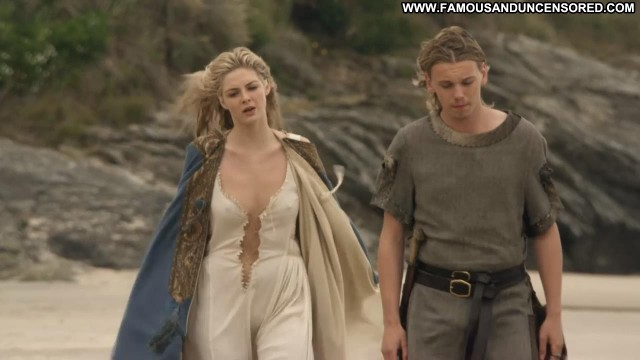 Tamsin Egerton Camelot Celebrity Breasts Beach Wet Big Tits Nipples