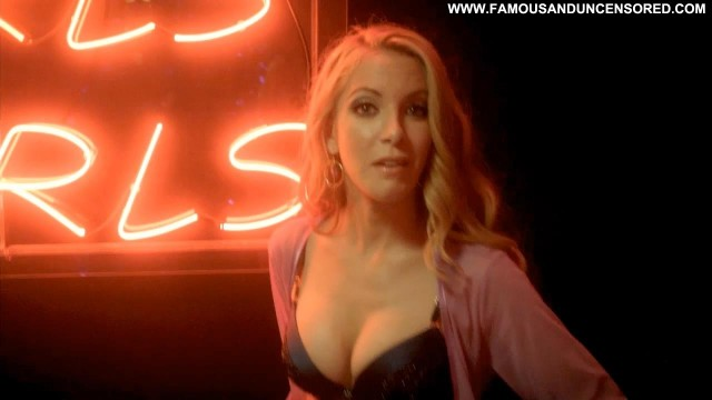 Dustin Quick Nude Sexy Scene Ringer Shirt Showing Tits Bra