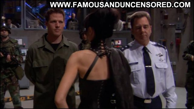 Claudia Black Stargate Leather Fetish Brunette Sex Scene Hot