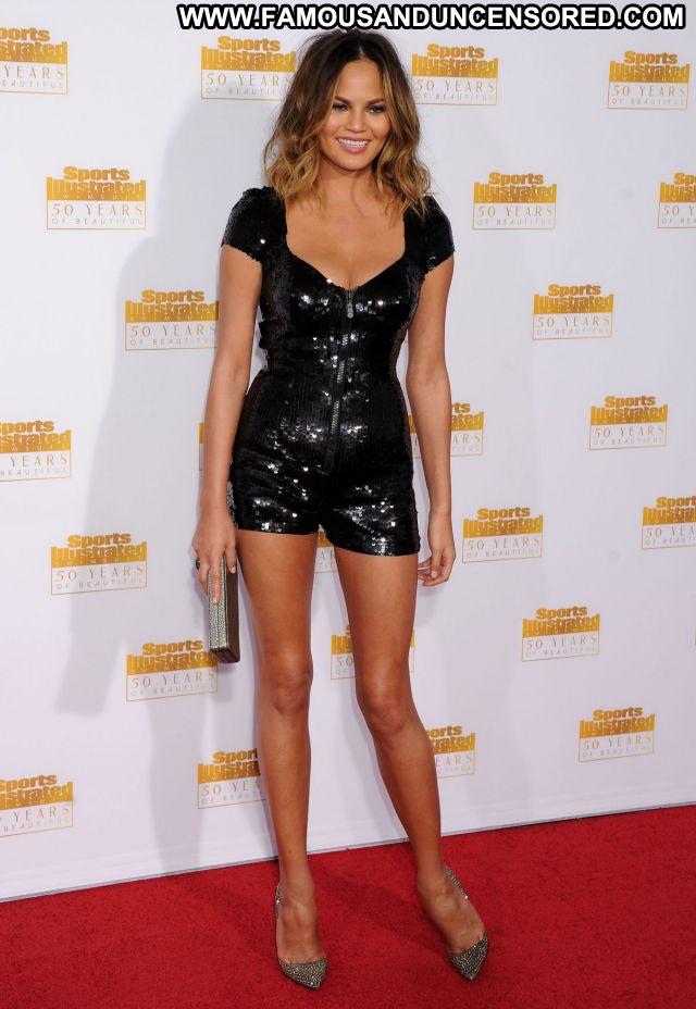 Chrissy Teigen No Source Asian Sexy Dress Famous Posing Hot Celebrity