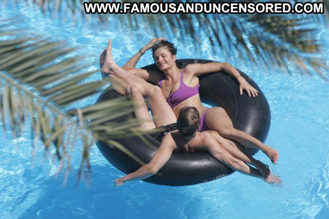 Helena Christensen Nude Sexy Scene Pool Brunette Bikini Doll