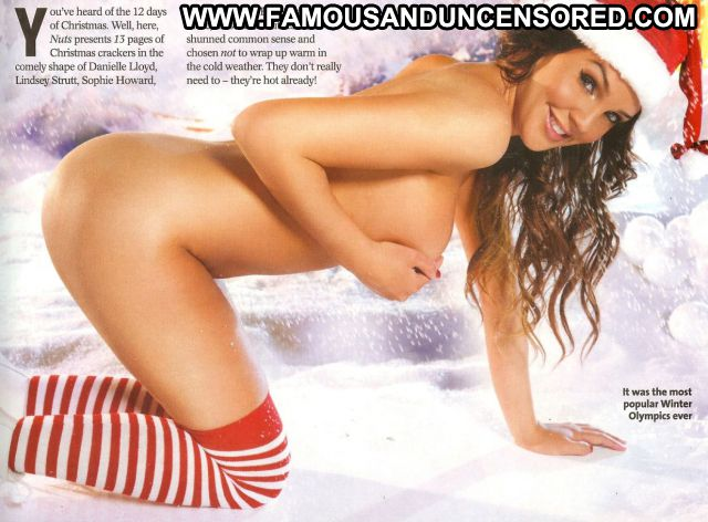 Danielle Lloyd Christmas Uniform Nude Scene Celebrity Famous