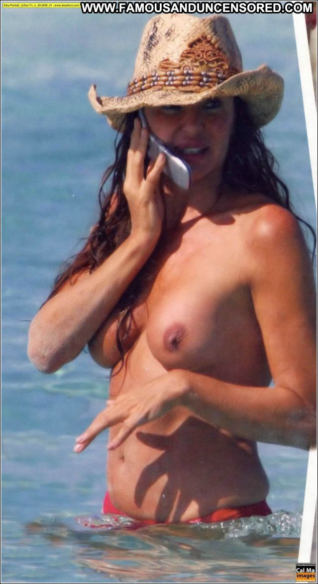 Alba Parietti No Source  Tits Beach Bikini Cute Famous Celebrity Hot