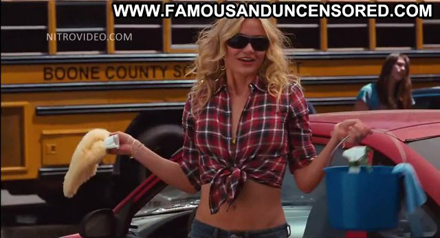 Cameron Diaz Bad Teacher Car Wash Celebrity Showing Tits Hot