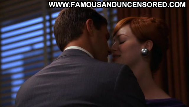 Christina Hendricks Nude Sexy Scene Mad Men Redhead Floor