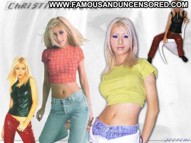 Christina Aguilara No Source Posing Hot Babe Hot Famous Singer