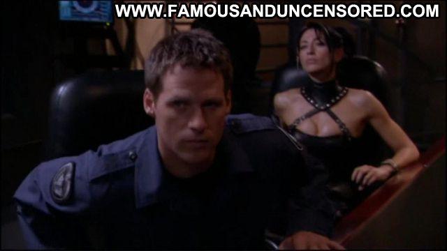Claudia Black Nude Sexy Scene Stargate Leather Fetish Babe