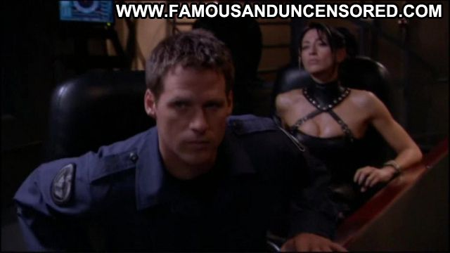 Claudia Black Nude Sexy Scene Stargate Leather Fetish Babe