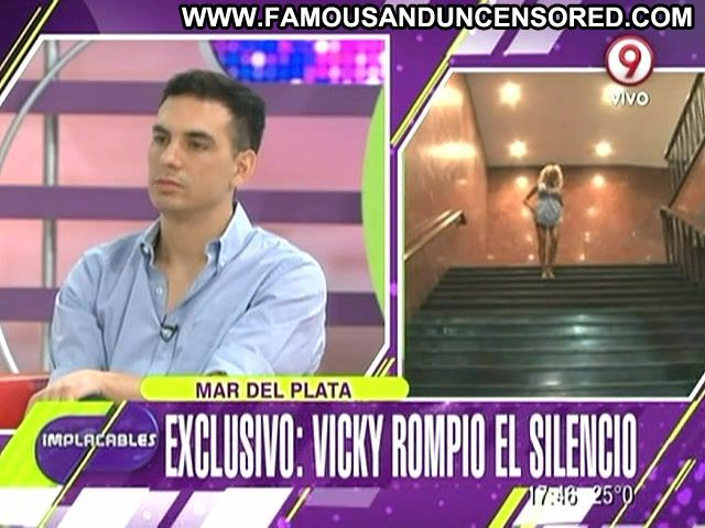 Vicky Xipolitakis Implacables Stairs Sexy Dress Big Ass Cute