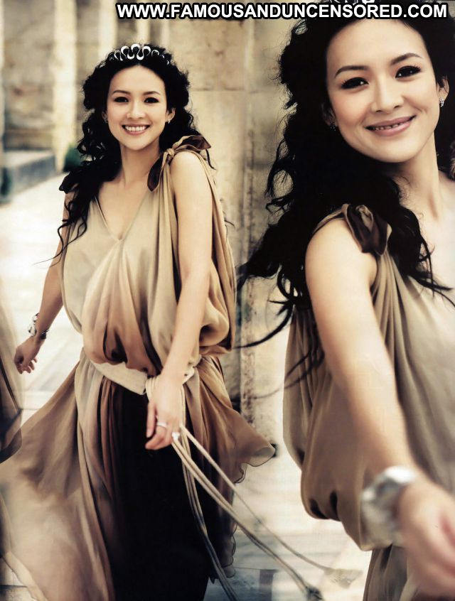 Zhang Ziyi Posing Hot Cute Hot Sexy Dress Babe Celebrity Posing Hot