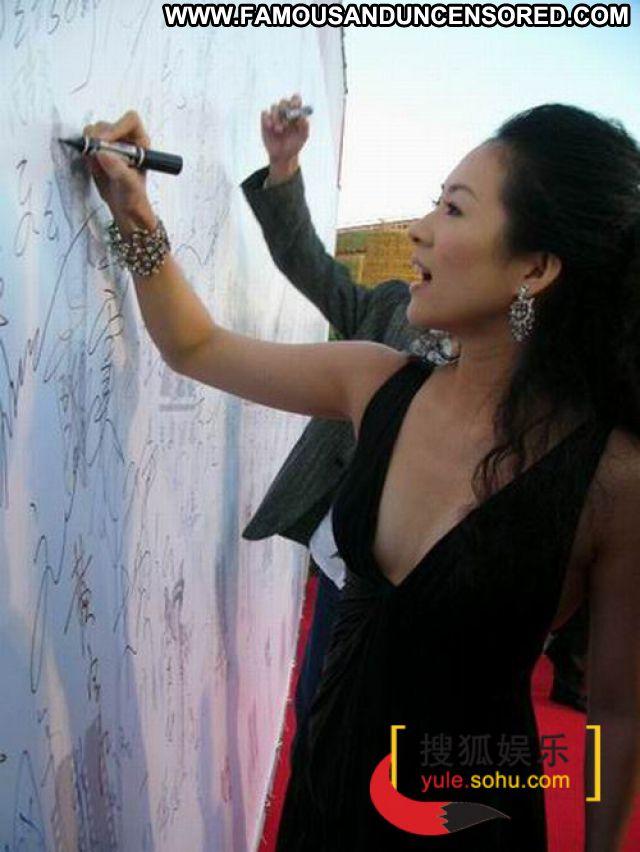 Zhang Ziyi No Source Posing Hot Babe Sexy Famous Celebrity Posing Hot