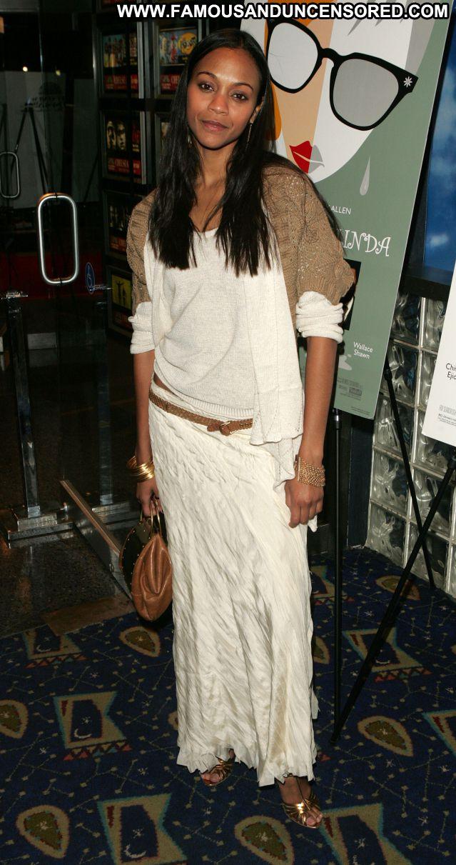 Zoe Saldana No Source Sexy Dress Famous Celebrity Celebrity Ebony