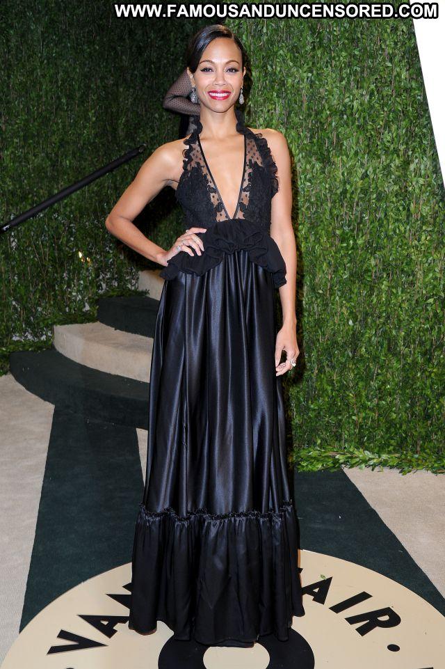 Zoe Saldana No Source Sexy Dress Hot Ebony Babe Famous Posing Hot