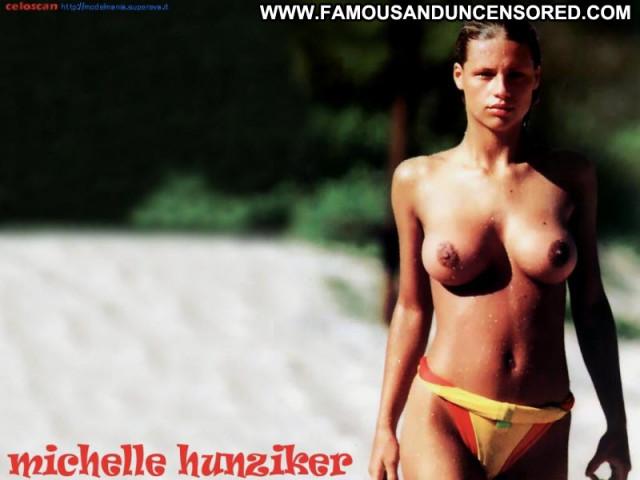 Michelle Hunziker No Source Actress Posing Hot Beautiful Babe Singer