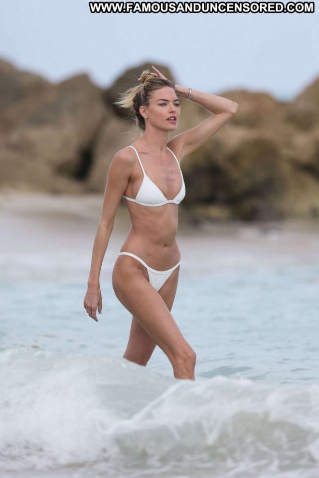 Martha Hunt Miami Beach Beach Babe Bikini Beautiful Posing Hot
