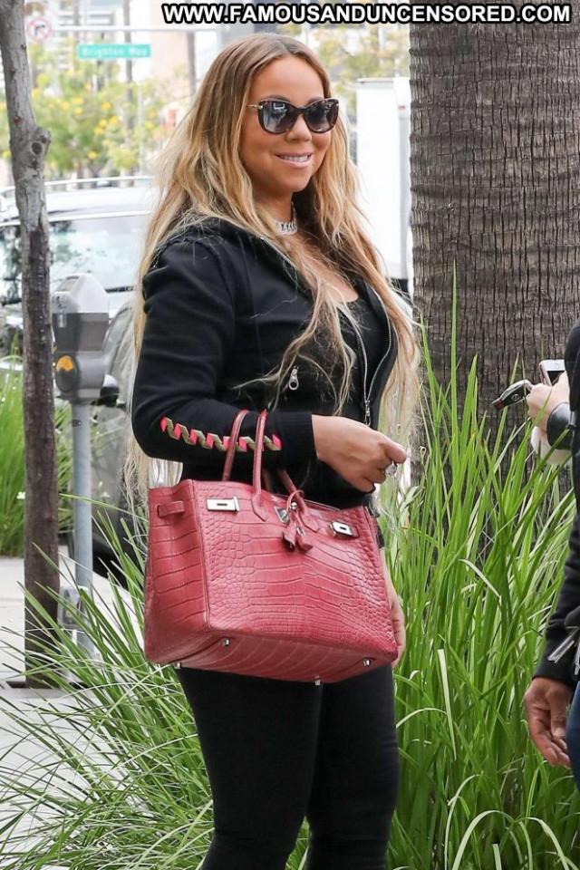 Mariah Carey Beverly Hills Beautiful Celebrity Posing Hot Paparazzi