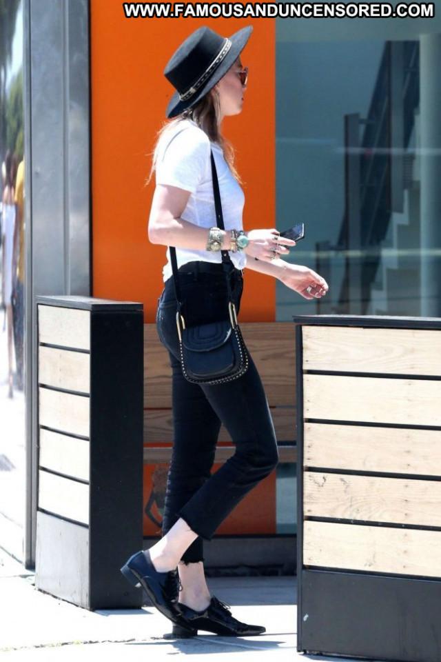 Amber Heard No Source Babe Black Jeans Paparazzi Posing Hot Beautiful