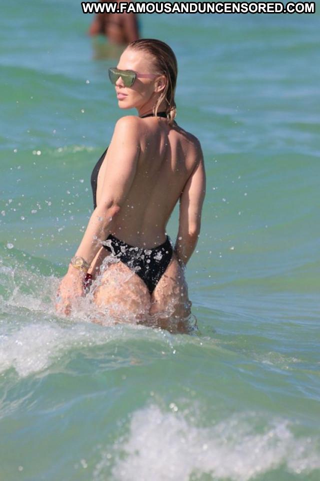 Laura Cremaschi Miami Beach Australia Candids Celebrity Hot Bikini