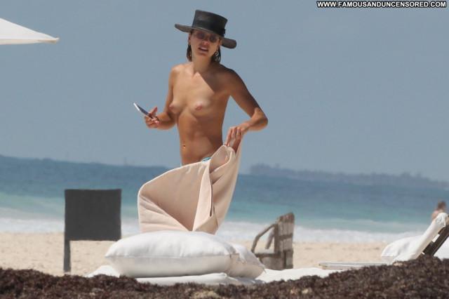 Michelle Hunziker Topless Photoshoot Candids Beach Sister Reality