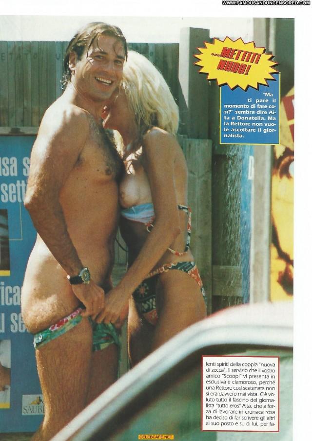 Donatella Rettore No Source Posing Hot Celebrity Babe Tits Beach