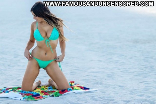 Claudia Romani No Source Beach Posing Hot Babe Celebrity Beautiful