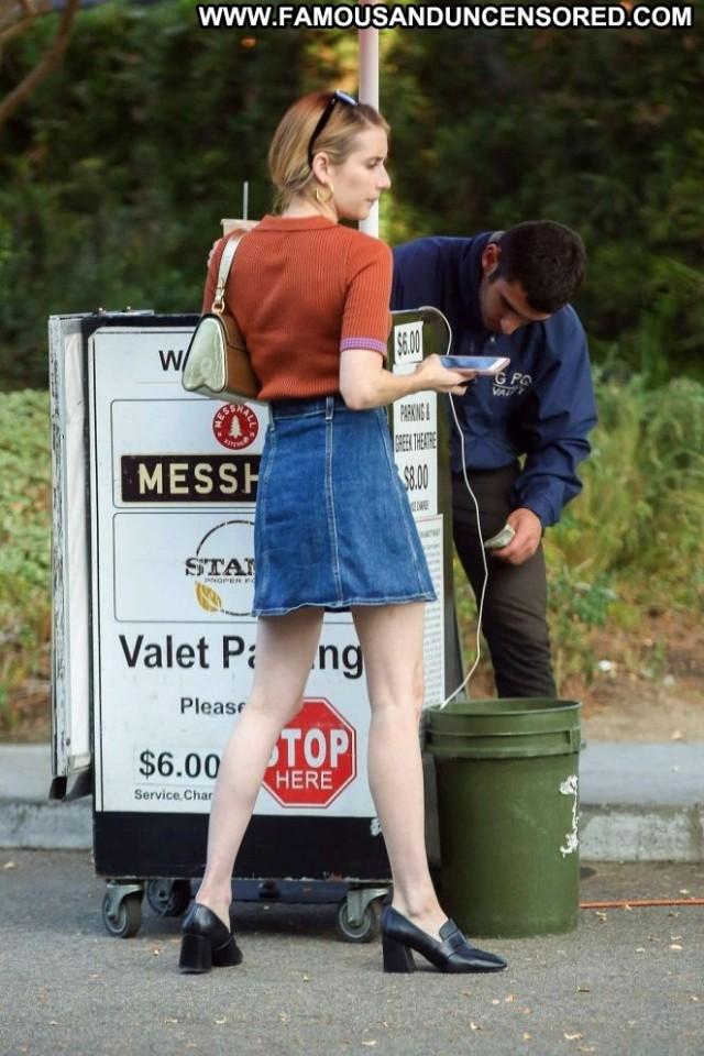 Emma Robert No Source Babe Posing Hot Beautiful Skirt Paparazzi