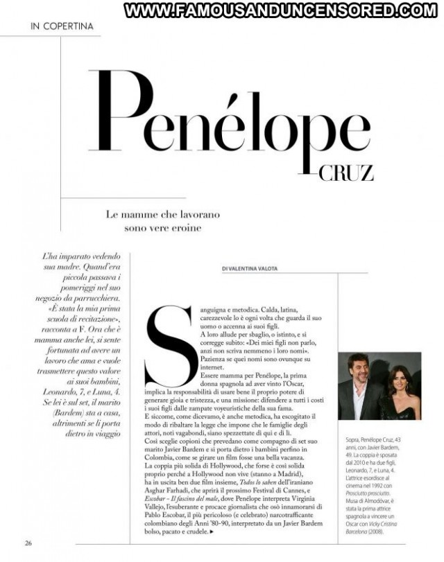 Penelope Cruz No Source Posing Hot Magazine Celebrity Paparazzi