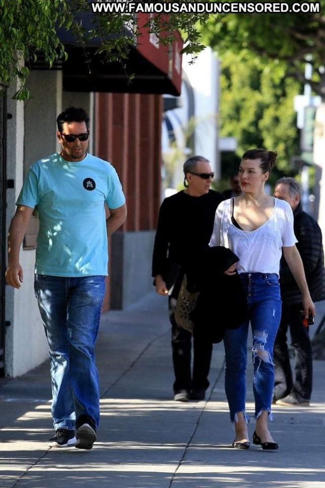 Milla Jovovich Beverly Hills Celebrity Babe Beautiful Paparazzi