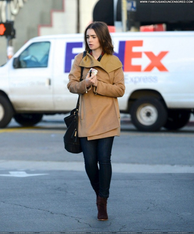 Lily Collins Puncture  Beautiful Office Posing Hot Babe High
