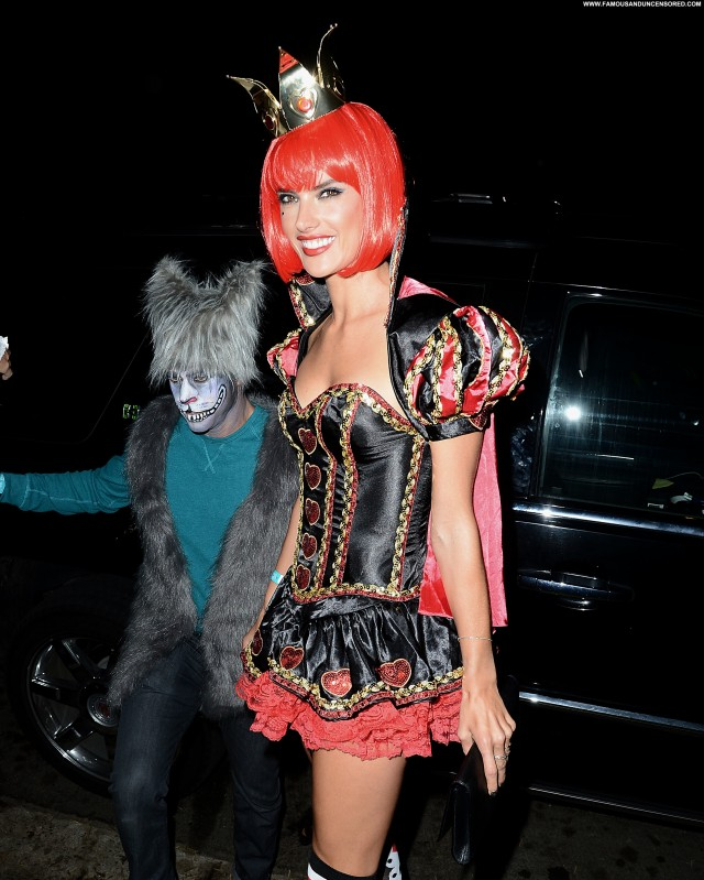 Alessandra Ambrosio Halloween Party In Beverly Hills Celebrity Posing
