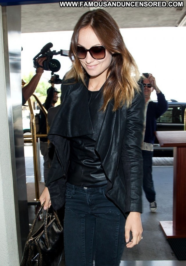 Olivia Wilde Lax Airport Celebrity Posing Hot Lax Airport Babe High