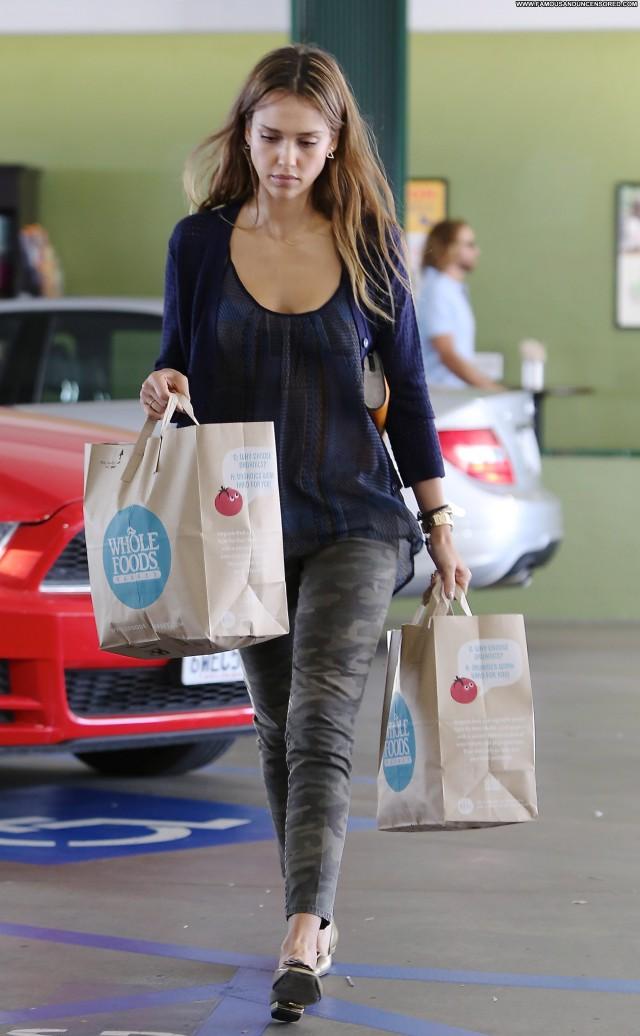 Jessica Alba Shopping Posing Hot Beautiful Shopping Candids High