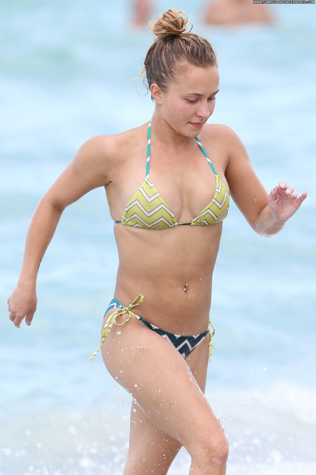 Hayden Panettiere Miami Beach Celebrity Bikini Babe Beach High