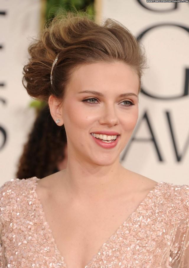 Scarlett Johansson Golden Globe Awards Posing Hot Celebrity Babe