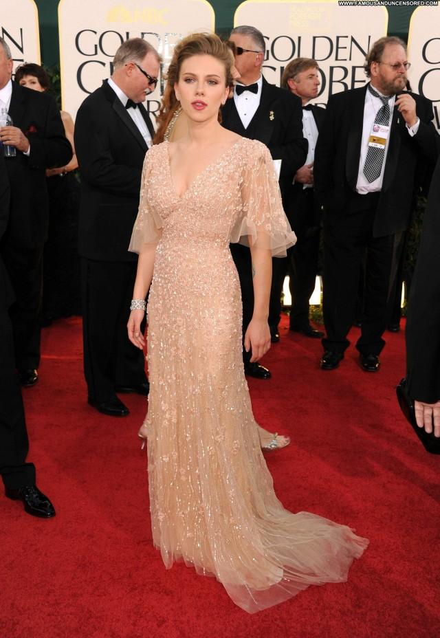 Scarlett Johansson Golden Globe Awards Babe Posing Hot Awards High