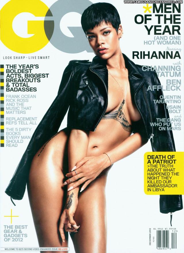 Rihanna Gq Magazine Private Celebrity Magazine Topless Posing Hot