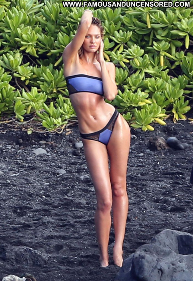 Candice Swanepoel No Source Hawaii Topless Posing Hot Celebrity