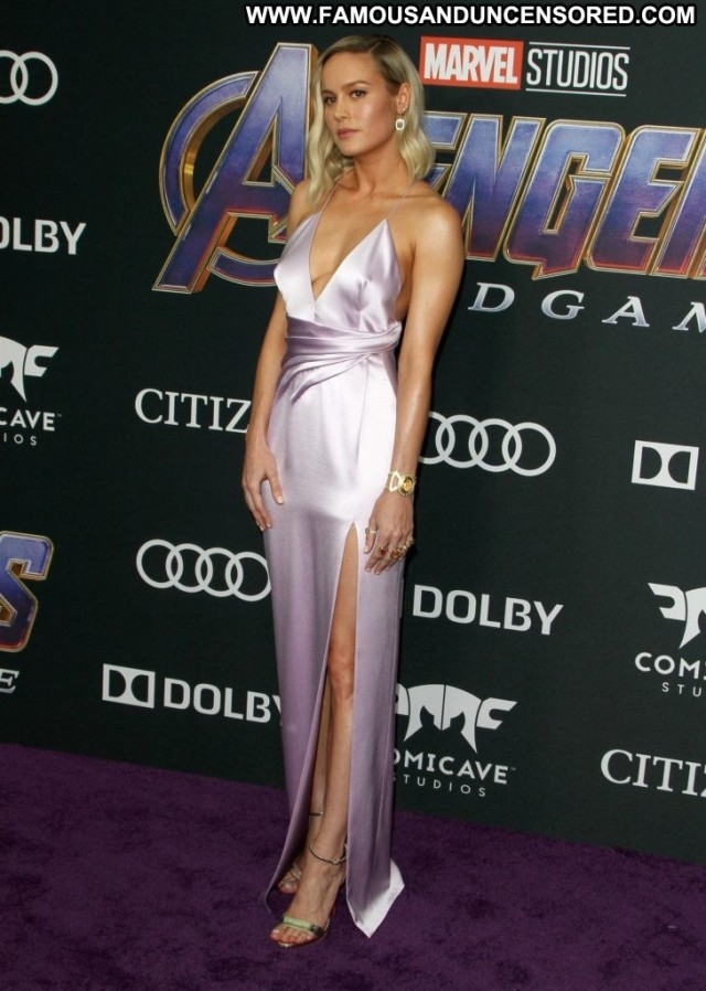 Brie Larson The Los Angeles Premiere Of Posing Hot Beautiful Nice