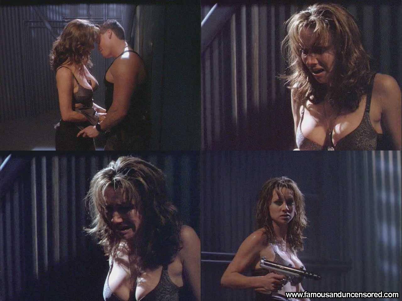 Debbe Dunning presents her cleavage