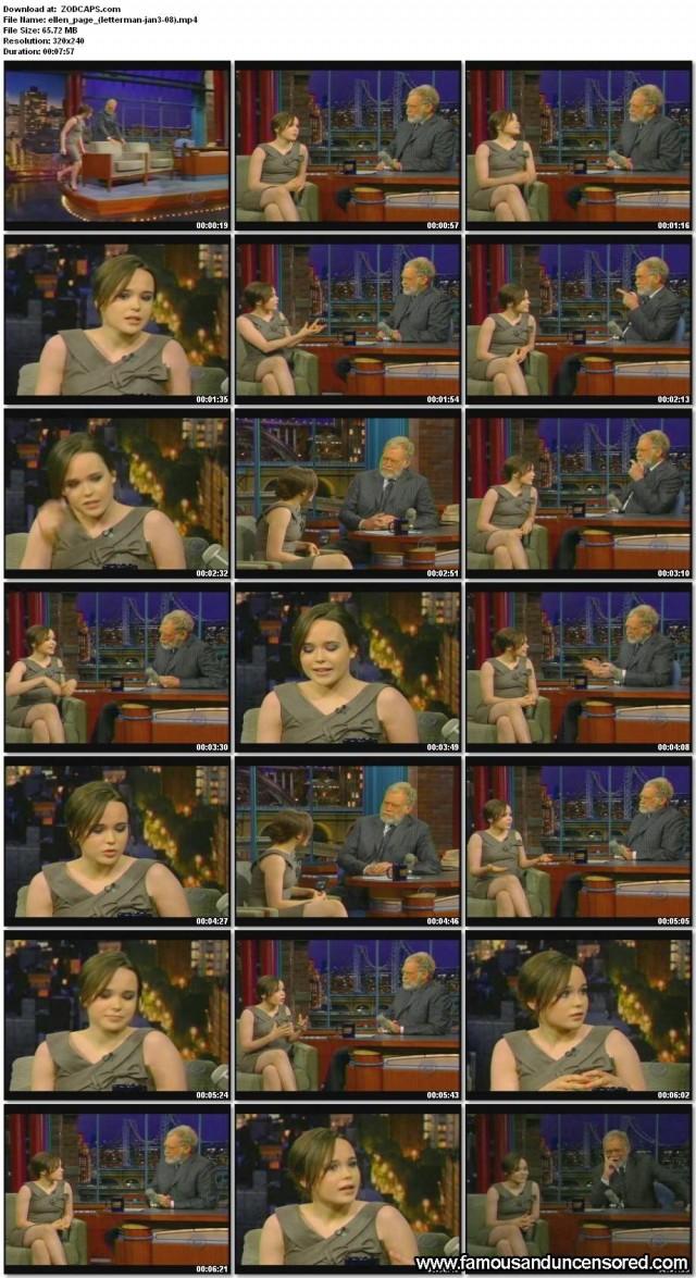 Ellen Page Letterman Celebrity Beautiful Nude Scene Sexy