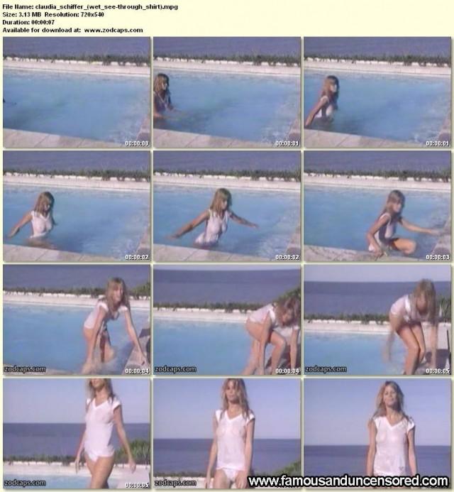 Claudia Schiffer Beautiful Nude Scene Sexy Celebrity