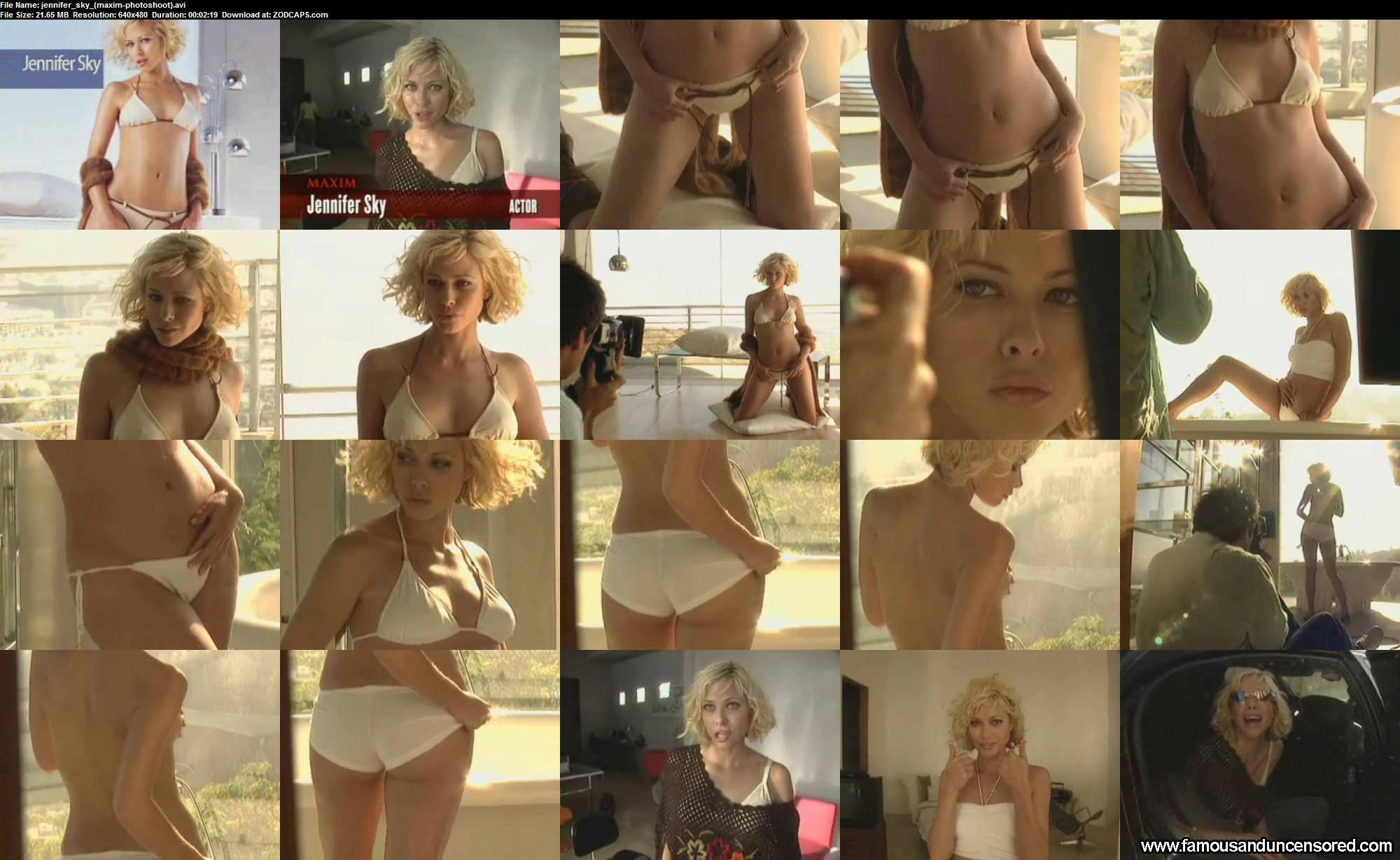 Jennifer Sky Maxim Photoshoot Beautiful Celebrity Sexy Nude Scene