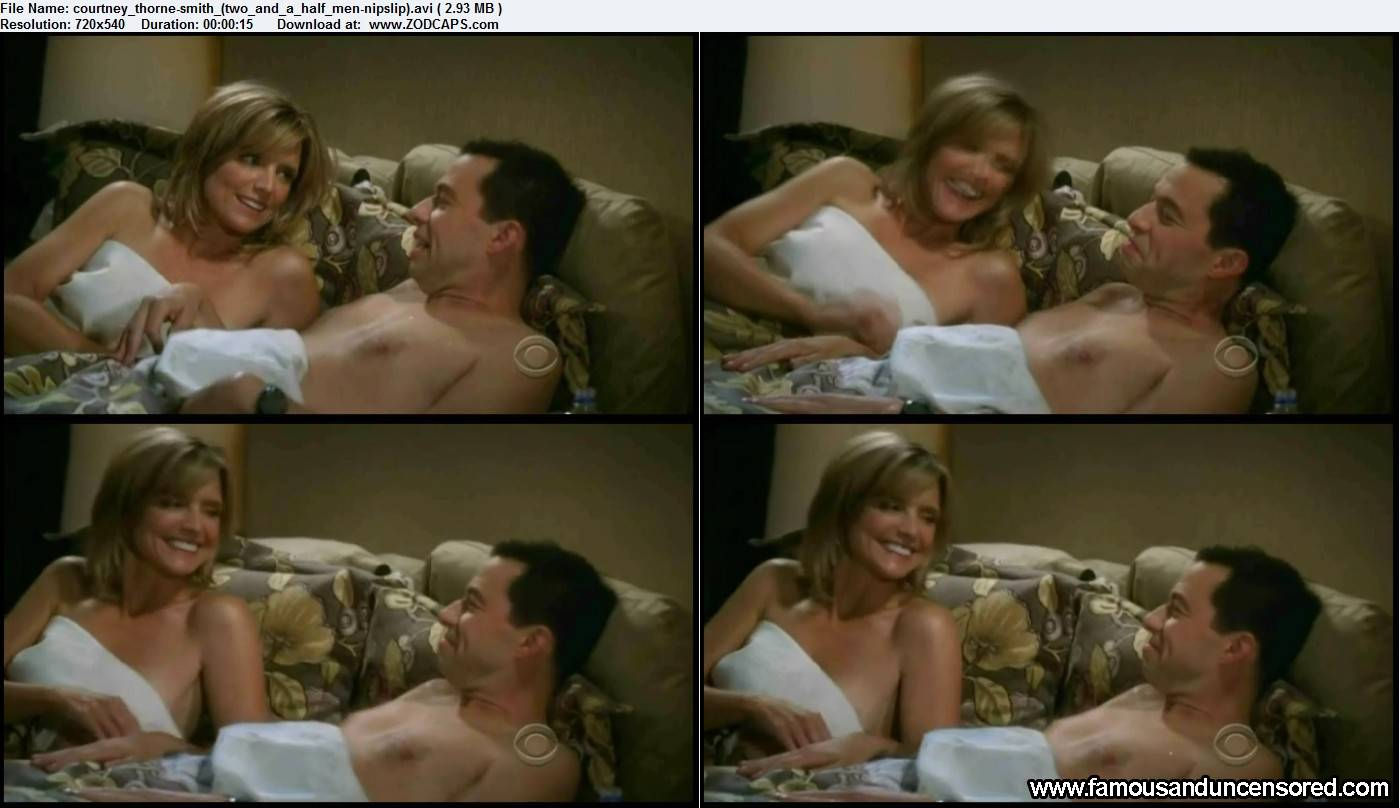 two and a half men nude scene