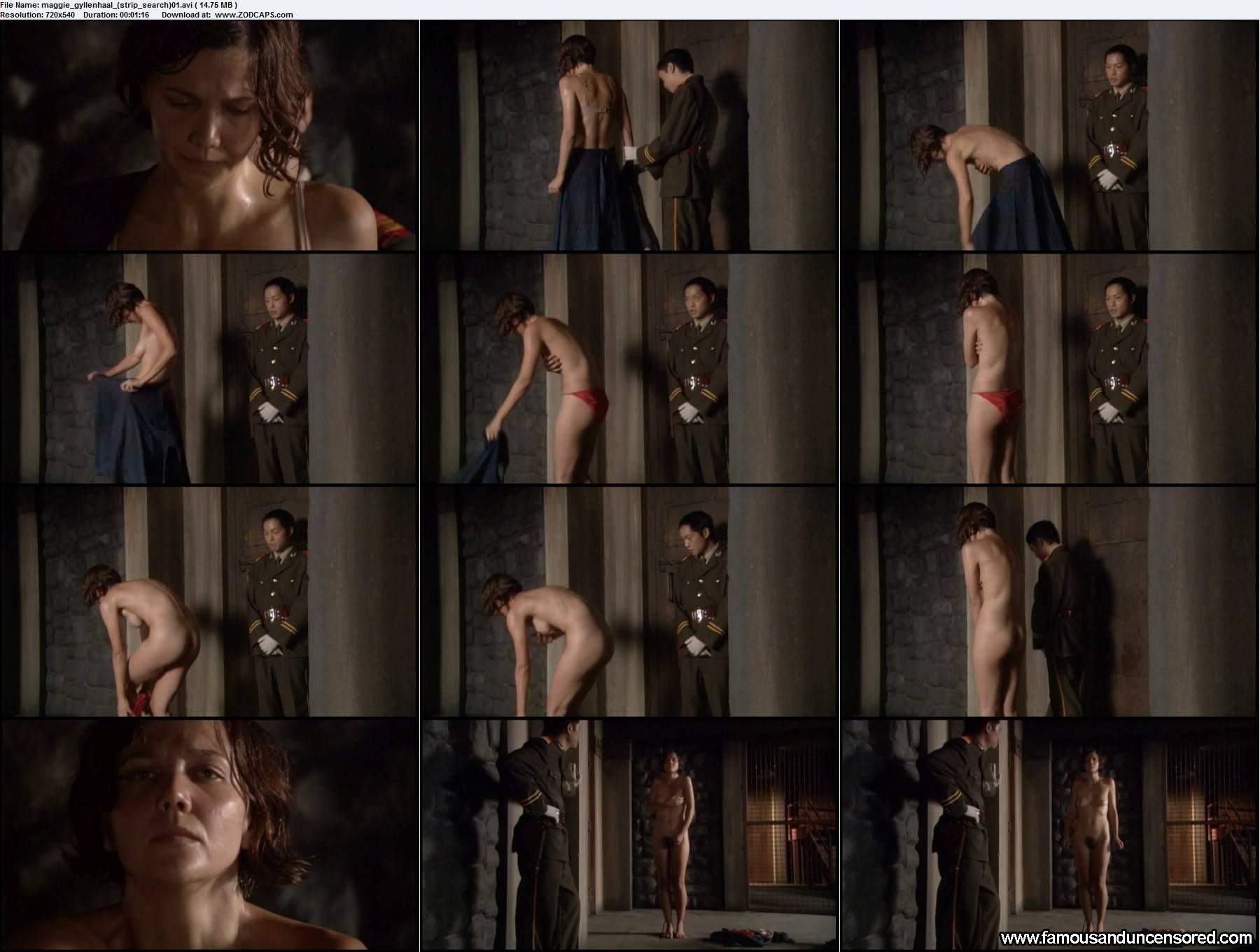Maggie gyllenhaal strip search