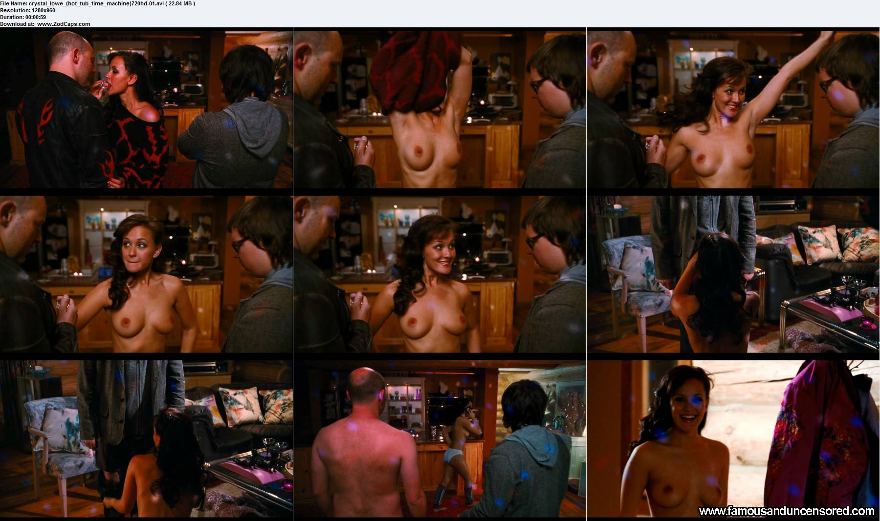Crystal lowe hot tub time machine scene there