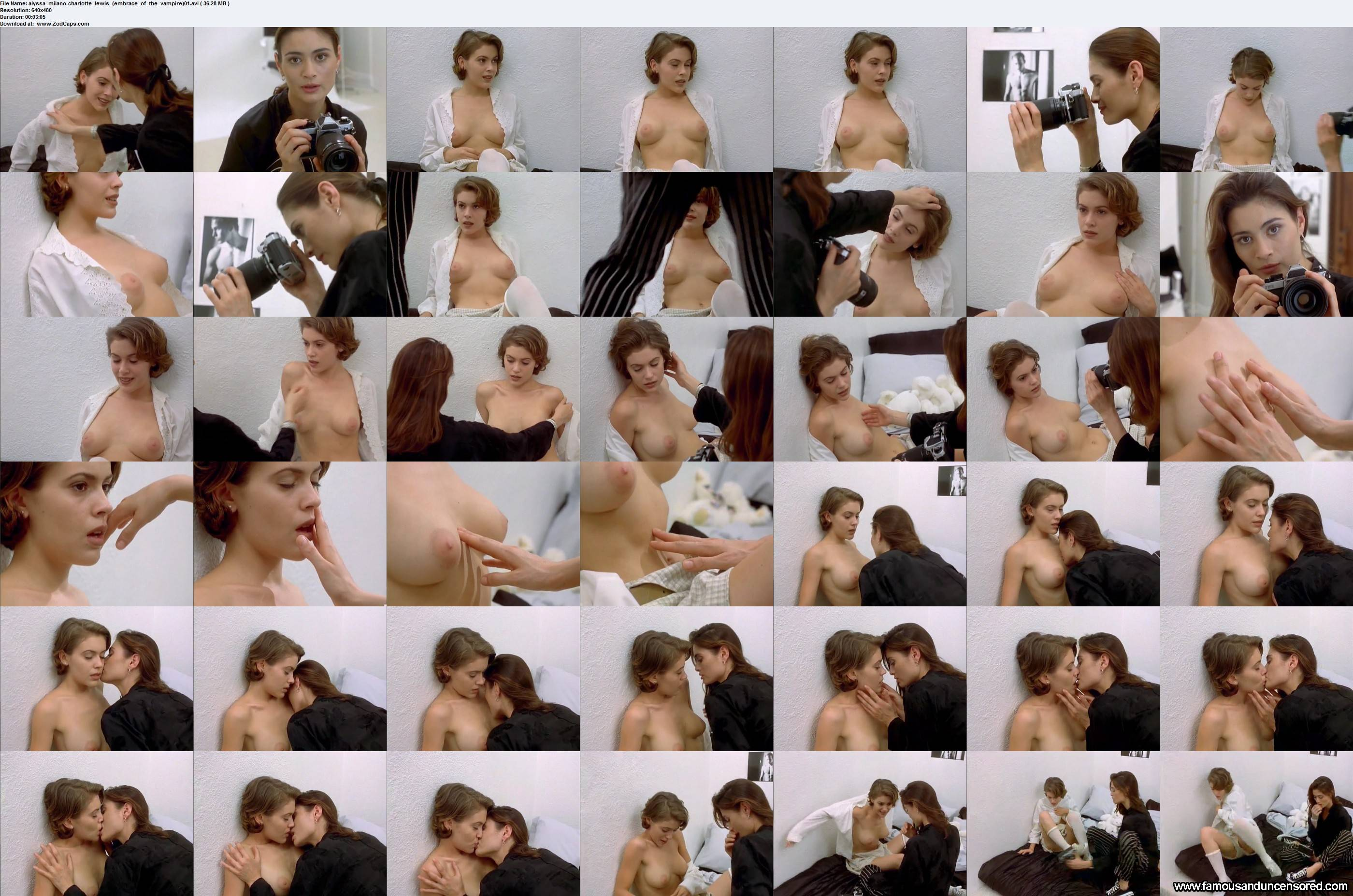 Alyssa milano embrace of the vampire photo shoot only