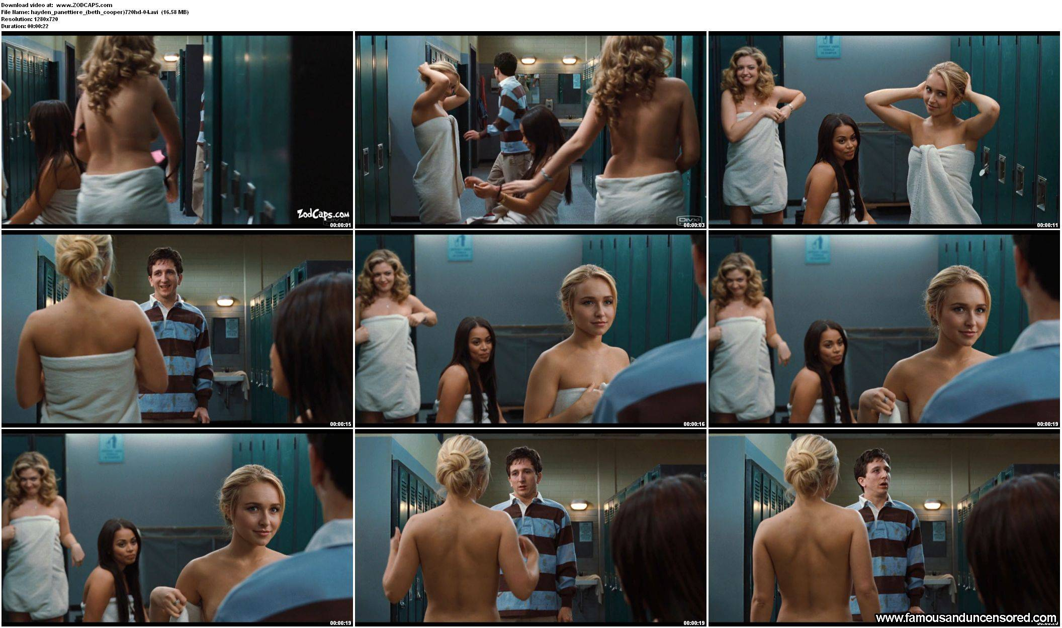 Hayden panettiere naked shower scene