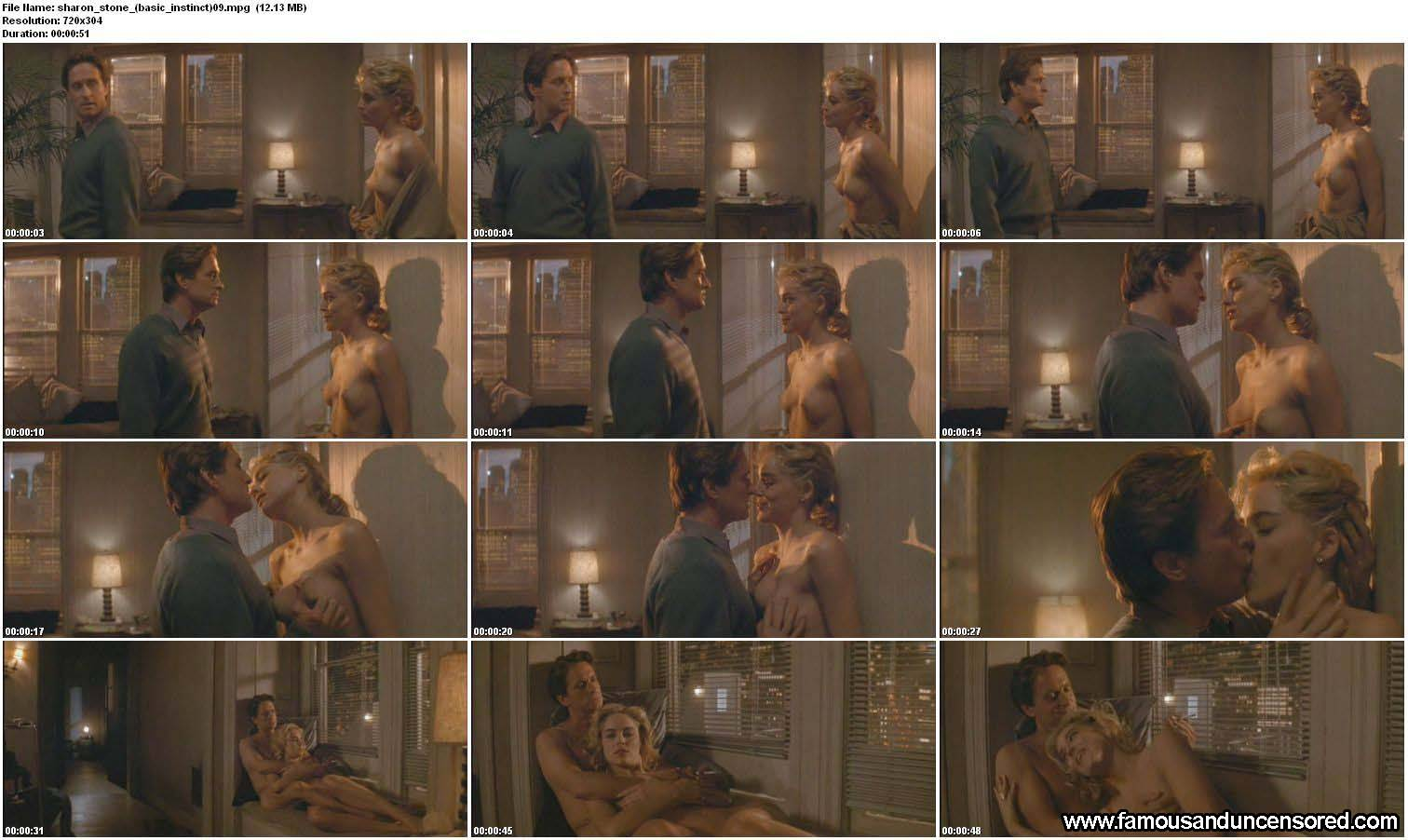 Sharon Stone Nude Sexy Scene in Basic Instinct Celebrity Photos and