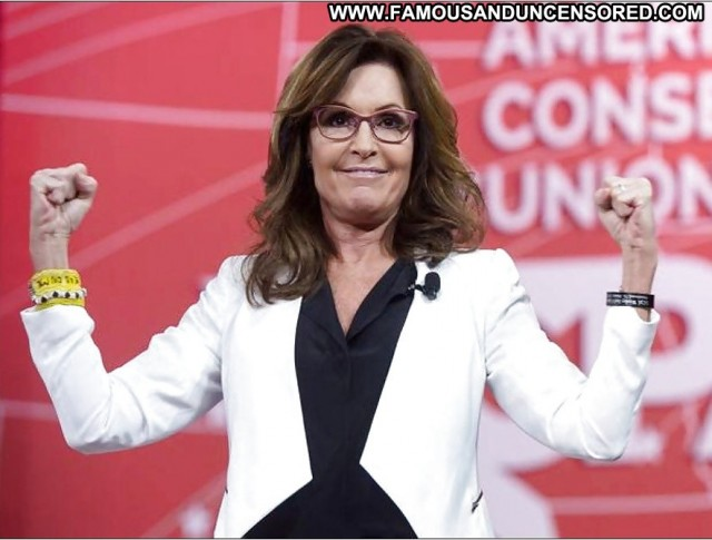 Sarah Palin Celebrity Tongue Gorgeous Mature Heels